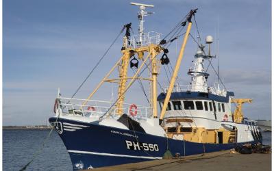 Targoncás raktáros munkatárs hajókikötőben